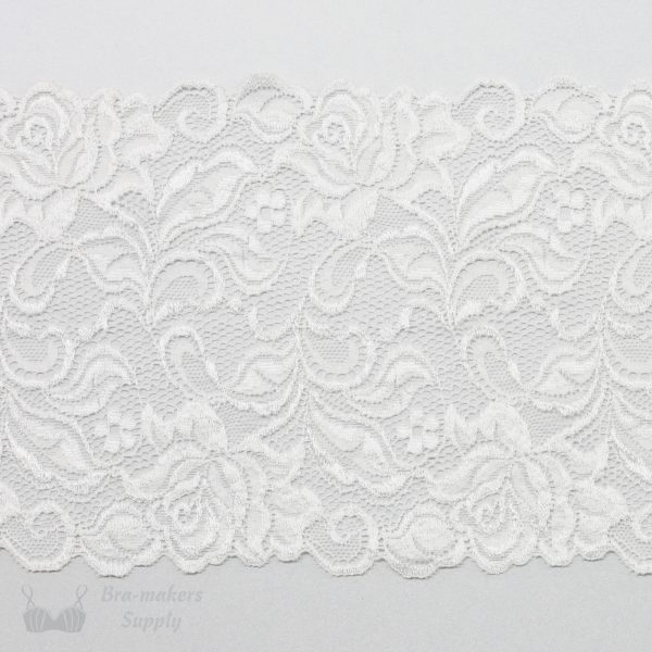cream stretch lace rose design