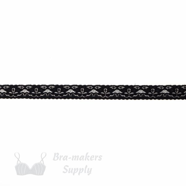 black stretch lace edging