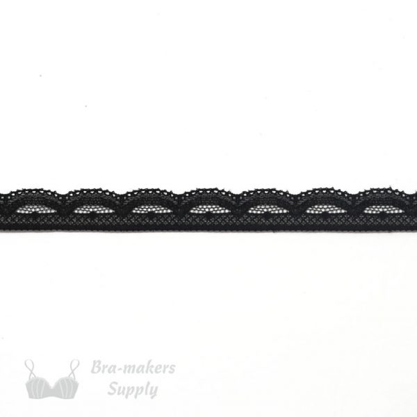 black stretch lace edging half inch